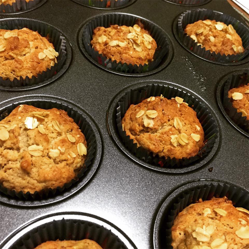 Oat Banana Muffins by Bakeomaniac