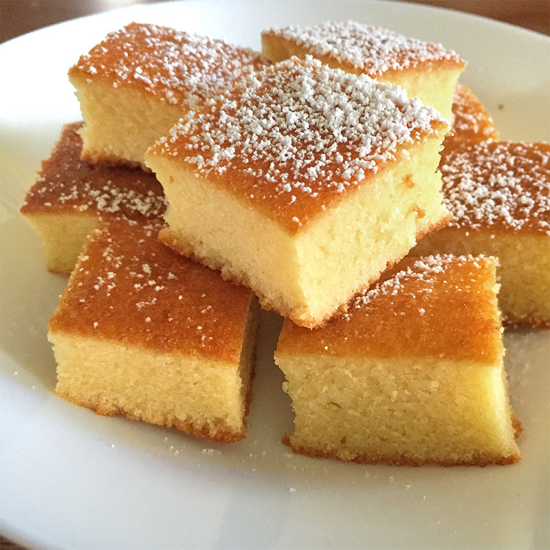 Hot Milk Cake Recipe by Bakeomaniac