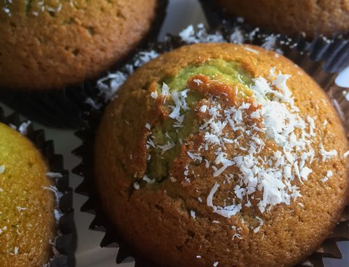 Pandan Coconut Muffins Recipe