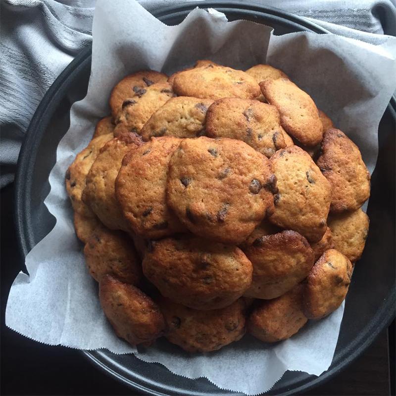 Banana Chocolate Chip Cookies Recipe by Bakeomaniac