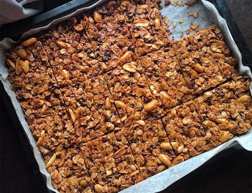 Peanut Butter Chocolate Granola Bars Recipe