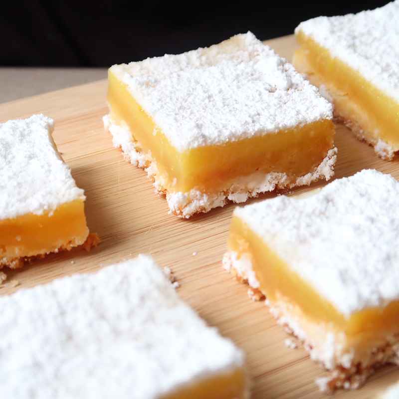 Simple Lemon Squares Recipe by Bakeomaniac
