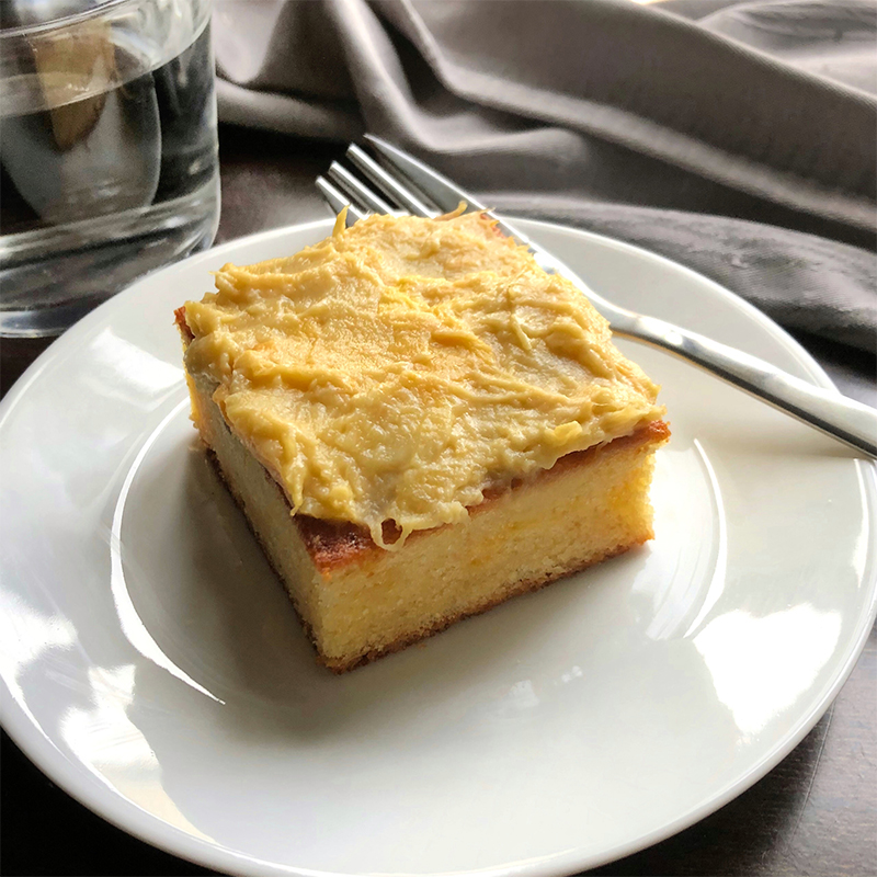 Durian Cake Recipe by Bakeomaniac