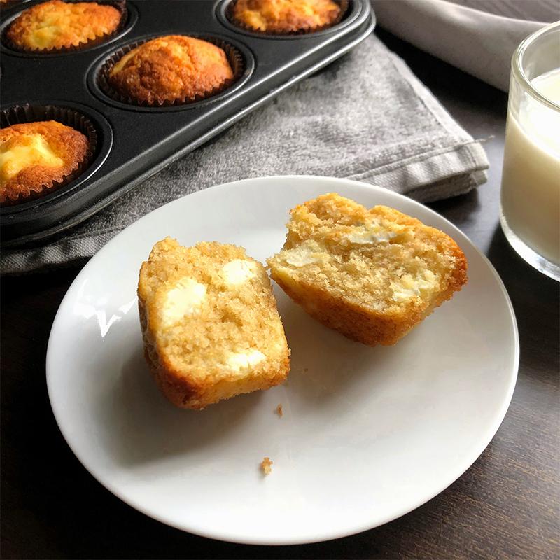 Cream Cheese Muffins Recipe by Bakeomaniac