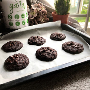 Dark Chocolate Oat Cookies Recipe by Bakeomaniac