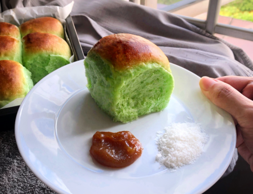 Pandan Coconut Bread Recipe