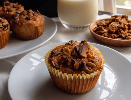 Banana Muffins with Granola Topping Recipe